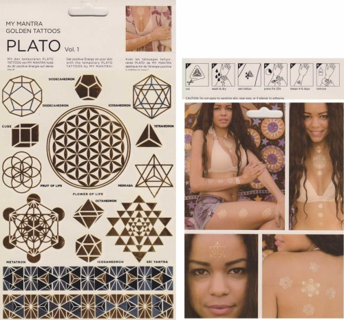 Golden Tattoos 3er Set